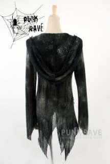 Visual Kei Punk Gothic nana lolita amoeboid jacket Sweater with hat