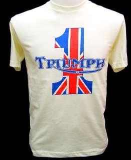 TRIUMPH Motorcycles UK VTG Biker T Shirt evel harley S