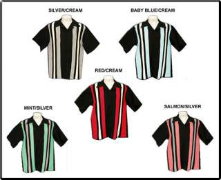 Vintage Retro Rockabilly THE BOP Bowling Shirt (Adult)