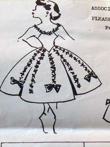 Vintage 50s Mail Order Girls Pageant Dance Costume Dress Pattern Size