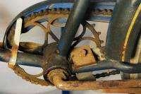 Vintage Pre War schwinn built Mead Crusader blue white bicycle bike