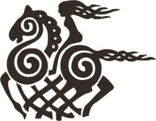 Viking asatru Odin Sleipnir horse black goddess vinyl decal sticker