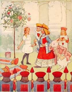 1922 ALICE IN WONDERLAND Antique LEWIS CARROLL Alices Adventures Book
