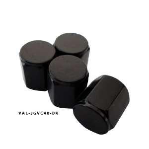 AGT Black Aluminum Valve Caps Tire Cap Stem (Pack of 4) Automotive