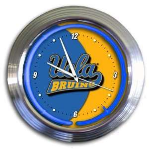 UCLA Bruins College Varsity Neon Clock