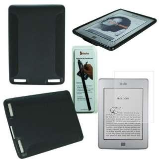 BK  Kindle Touch 3G WiFi TPU Gel Case Skin Cover +Screen