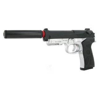 spring spec ops m9 pistol silencer fps 215 airsoft gun by world tech