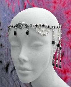 Black Vampire BAT Gothic medieval CIRCLET diadem crown