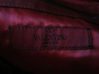 AUTHENTIC VALENTINO RED LEATHER ROSETTE BAG PURSE NEW