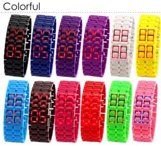 Valentines Gift For Girl Friend Lovely Mens Red Digital Wrist Watch