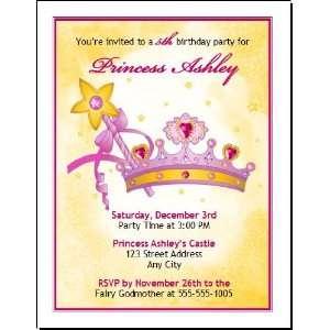 Princess Tiara Birthday Party Invitation