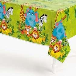JUNGLE SAFARI ZOO ANIMAL Birthday Party Table Cover