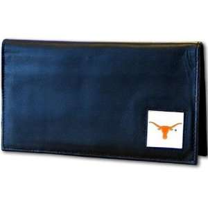 Texas Longhorns Deluxe Leather Checkbook Cover Sports