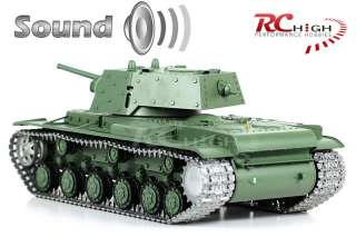 HUGE 1/16 SCALE HENG LONG RC RUSSIAN KV 1 FULL FUNCTION TANK PRO