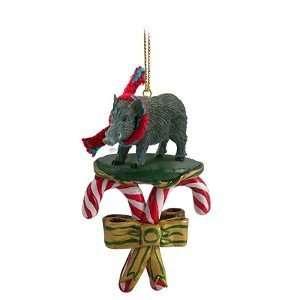 Razorback Hog Candy Cane Christmas Ornament: Home