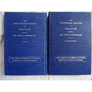 Isaiah According to the Jewish Interpreters (Two volume set) Books