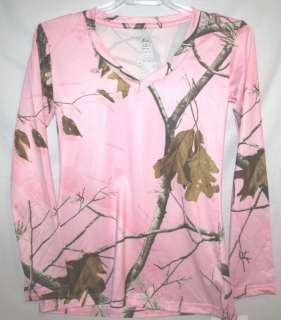 REALTREE AP PINK CAMO CAMOUFLAGE LADIES LS SHIRT