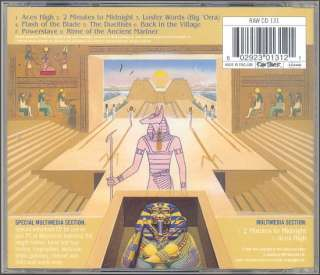 IRON MAIDEN ~ POWERSLAVE ~ UK ENHANCED CD w 2 VIDEOS + MORE ~ 1998