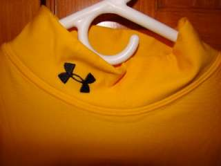 NWT UNDER ARMOUR MENS YELLOW COLD GEAR COMPRESSION MOCK NECK SHIRT XXL