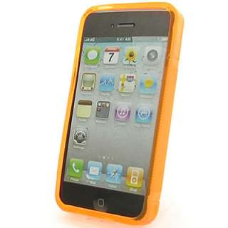 Orange Crystal Skin Cover Case for Apple Iphone 4 4G