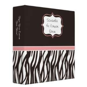 Personalized Coupon Binder, Funky Brown/Pink Zebra: Home