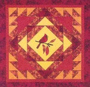 Cardinal Applique & Pieced Quilt Pattern   Bee Creative