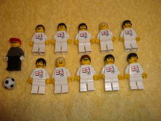 Lego Soccer Team England Football National Mens Minifigs Player Lot