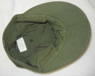1945 Dated ORIGINAL WW2 VINTAGE U.S. ARMY ISSUE O.D. COTTON FIELD CAP