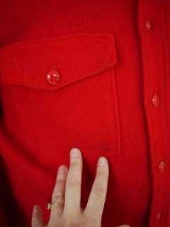 Vtg Heritage 60s LL BEAN Red Wool Hunting Jacket Shirt