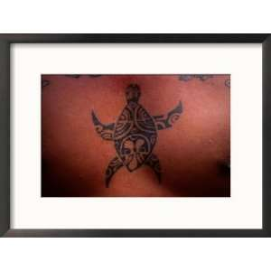 Tattoo of Turtle, French Polynesia Collections Framed