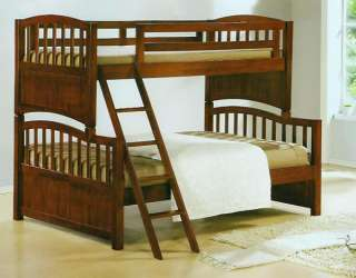 NEW SEDONA CHERRY FINISH SOLID WOOD TWIN FULL BUNK BED