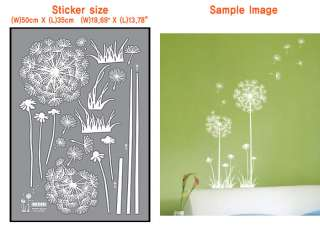 Dandelion Flower Home Art deco Wall Mural Decal Sticker