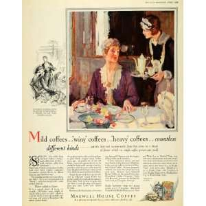 1928 Ad Maxwell House Coffee Maid Joel Cheek Nashville
