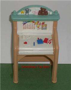 Fisher Price Loving Family Dollhouse TAN CHILDS ART DESK TABLE