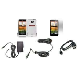 Sprint) Premium Combo Pack   White Silicone Skin Case Cover + Atom LED