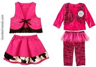 HALLOWEEN COSTUME POP STAR COWGIRL pink skirt vest pants tutu