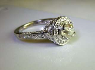 stunning art deco style old european cut diamond engagement ring