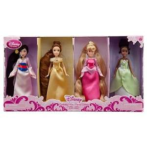 ENCHANTING MINI PRINCESS COLLECTION DOLL SET MULAN BELLE AURORA TIANA