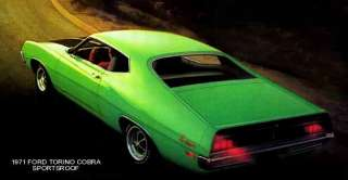 1971 FORD TORINO ~ COBRA SPORTSROOF (GREEN) MAGNET