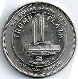 TRUMP PLAZA ON BOARDWALK ATLANTIC CITY,NJ TOKEN L@@K*