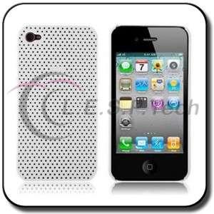 NEW ULTRA THIN IPHONE 4 4G ATT MESH NET HARD CASE WHITE