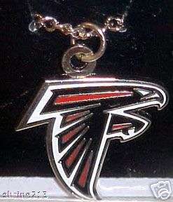 Atlanta Falcons Logo Pendant with Silver Chain NEW