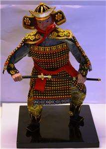 JAPANESE SAMURAI DOLL TRADITIONAL ROBES & SWORD