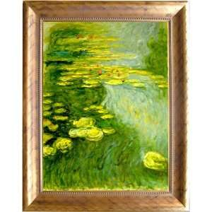 Claude Monet   Water Lilies Hand Painted Framed Oil Painting On Canvas