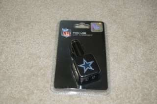 MEW TRIBECA NFL DALLAS COWBOYS Twin USB Car Charger FOR IPOD IPHONE