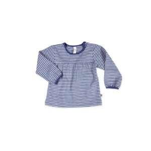 Green Kids Organic T Shirt   Navy Fine Stripe Navy Fine