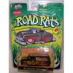 Diecast Road Rats 1957 Chevy Suburban in Color Black: Toys & Games