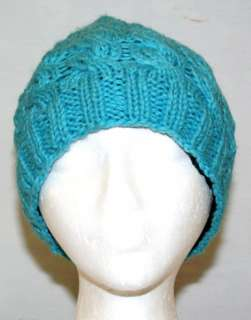 NEW HAND KNITTED WOOL HAT WITH INNER FLEECE FAIR TRADE