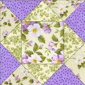 RJR Contessa Flora Purple Lavender Rose Floral Fabric Pre cut Quilt