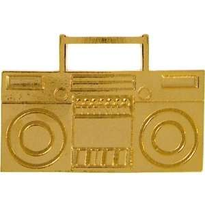 Bigger Boombox Ring, Adjustable, Extra Large In Gold Cora